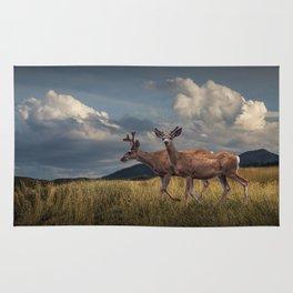 Mule Deer with Velvet Antlers in the Bighorn Mountains Rug