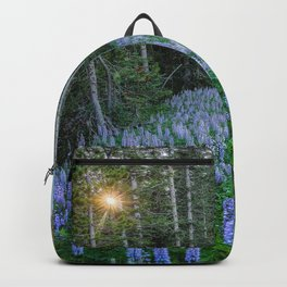High Country Lupine - Purple Wildflowers in Montana Mountains Backpack