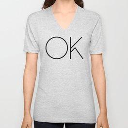 OK Unisex V-Neck
