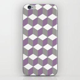 Diamond Repeating Pattern In Crocus Purple and Grey iPhone Skin