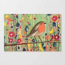 je ne suis pas qu'un oiseau revisited Canvas Print