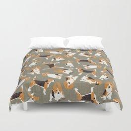 beagle scatter stone Duvet Cover