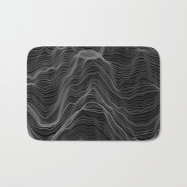 Soft Peaks Black Bath Mat