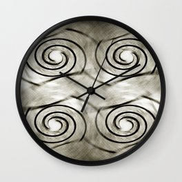 Shell Relaunch Patterned Wall Clock