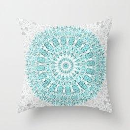 A Glittering Mandala Throw Pillow