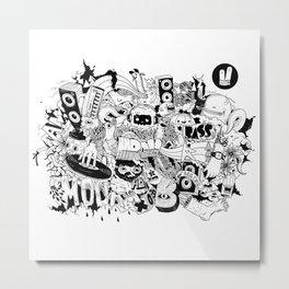 Smiley Fingers illustration 01 Metal Print