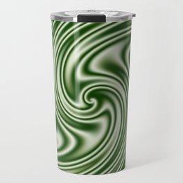 Spearmint Ribbon Candy Fractal Travel Mug