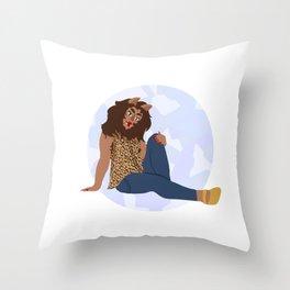 Werewolf Girl Throw Pillow