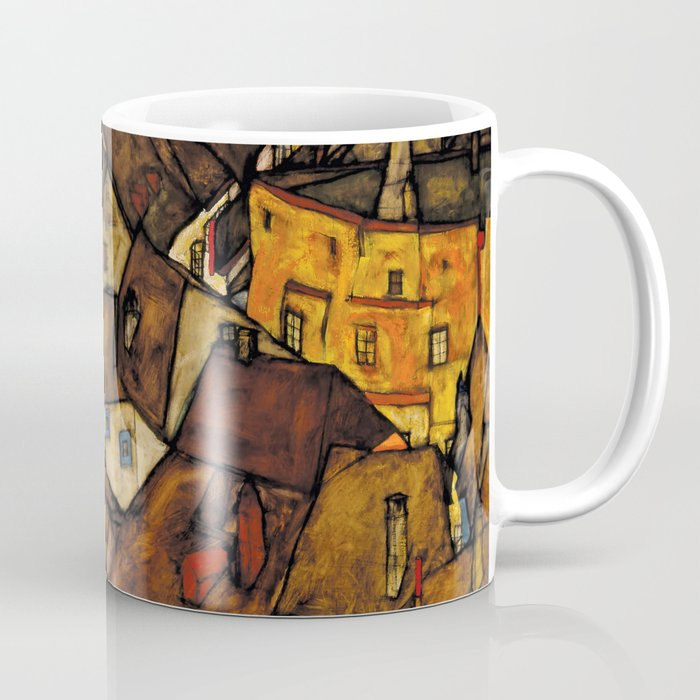 "Egon Schiele ""Krumau - Crescent of Houses (The small City V)"" Coffee Mug"