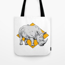 Rhino Yellow Tote Bag