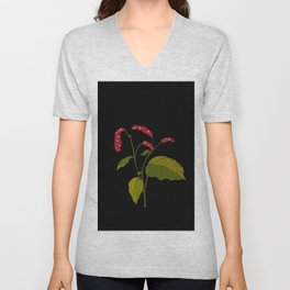 Polygonum Orientale Mary Delany Floral Paper Collage Delicate Vintage Flowers Unisex V-Neck