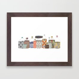 bottled happiness Framed Art Print