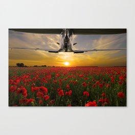 Poppy Spitfire Canvas Print