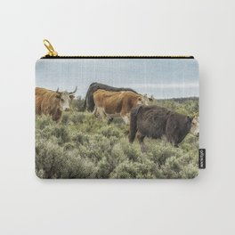 Five Cows Coming Down a Hill Carry-All Pouch