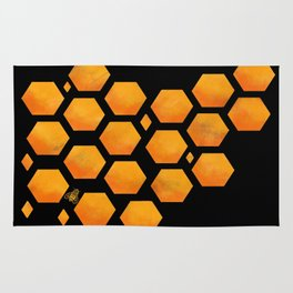 Bee in a Honeycomb Rug