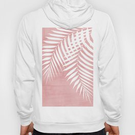 Pink Paint Stroke of Palm Leaves Hoody