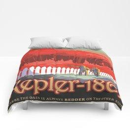 Kepler-186 : NASA Retro Solar System Travel Posters Comforters