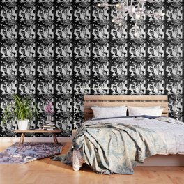 ART DECO MOD DOLLY FLAPPERS  TRIO Wallpaper