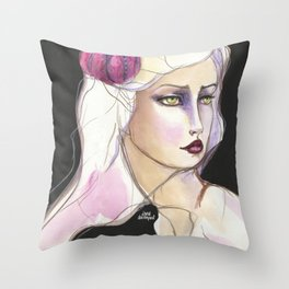Green Eyed by Jane Davenport Throw Pillow