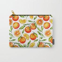 orange print citrus oranges watercolor Carry-All Pouch
