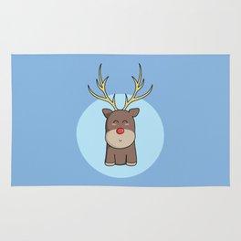 Cute Kawaii Christmas Reindeer Rug