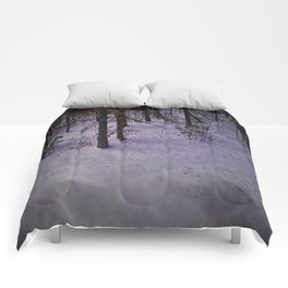 Snowy Forest Comforters