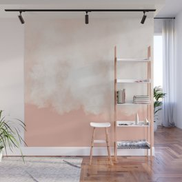 Cotton candy in beige pink Wall Mural