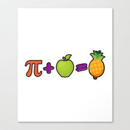 Pineapple Pi Science Geek Mathematics Symbol Humor Canvas Print