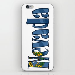 Nevada Font with Nevadan Flag iPhone Skin