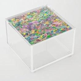 Impasto flowers Acrylic Box