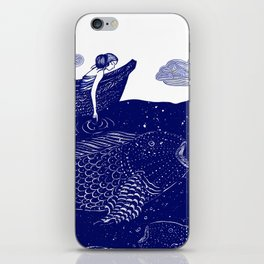 The Blue Shimmering Sea Lights iPhone Skin