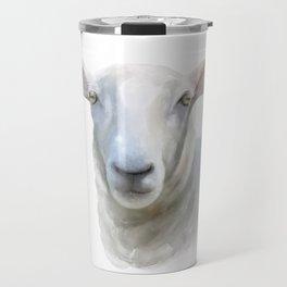 Watercolor Sheep Travel Mug
