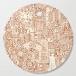 vintage halloween rust ivory Cutting Board