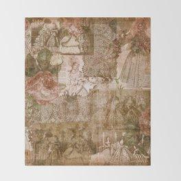 Vintage & Shabby Chic - Victorian ladies pattern Throw Blanket