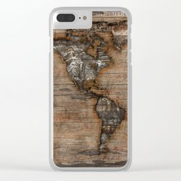 Reclaimed Map 2 Clear iPhone Case