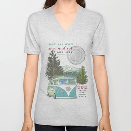 """""""Not all who wander, are lost"""" poster print Unisex V-Neck"""