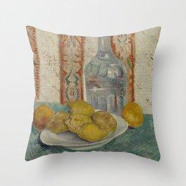 Carafe and Dish with Citrus Fruit Throw Pillow