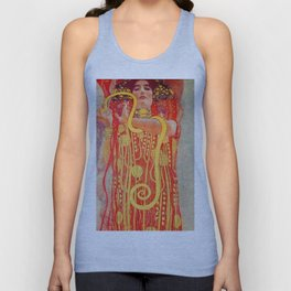 "Gustav Klimt ""University of Vienna Ceiling Paintings (Medicine), detail showing Hygieia"" Unisex Tank Top"