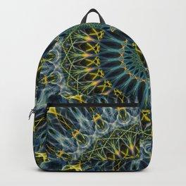 Blue and yellow mandala Backpack