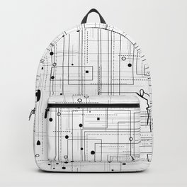 Black and white geometric abstract pattern Backpack
