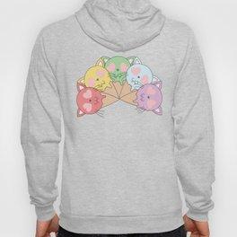 Kitty Ice Cream Rainbow Hoody