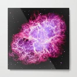 Pink Crab Nebula Metal Print