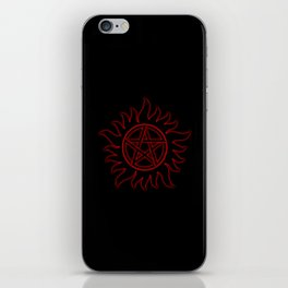 Anti Possession Sigil Red Glow iPhone Skin