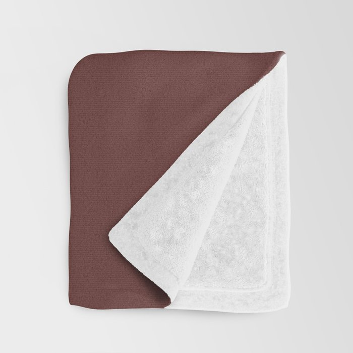 After Silence, Music ~ Reddish Brown Throw Blanket