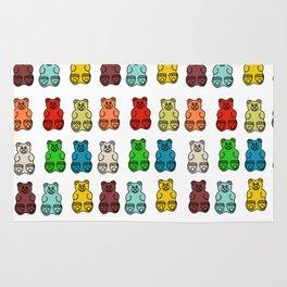 Cute Gummy Bear Candy Collage Rug