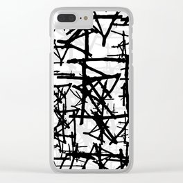 Abstract1on Clear iPhone Case