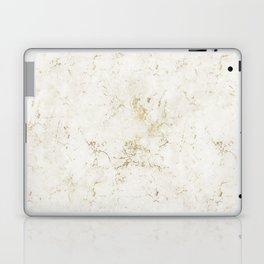 White & Gold Marble Laptop & iPad Skin