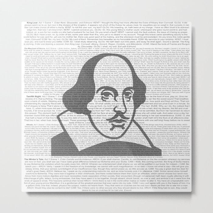 Words of Shakespeare Metal Print