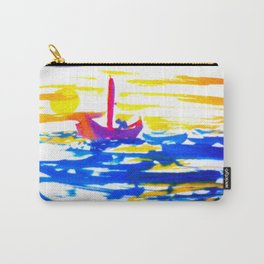 Sailboat at sea in sunset Carry-All Pouch