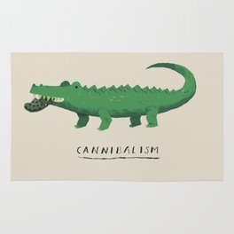 croc cannibalism Rug